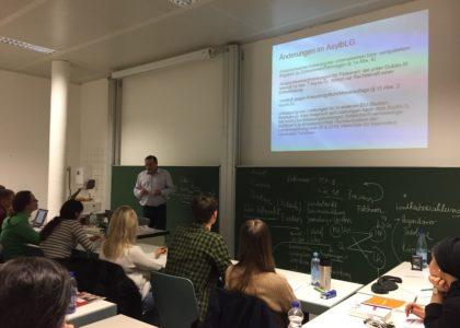 Vortrag: Aktuelle Entwicklungen im Asyl-und Aufenthaltsrecht